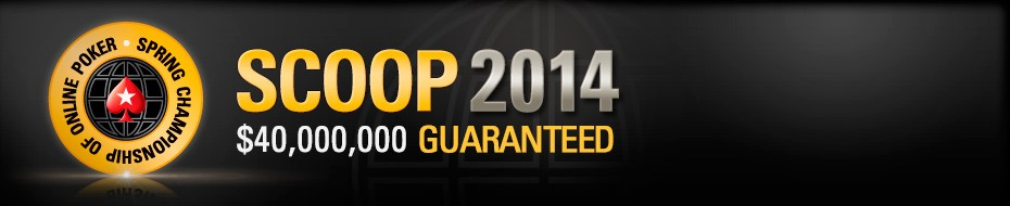 40 MILLION IS UP FOR GRABS DURING THE 2014 POKERSTARS SPRING CHAMPIONSHIP OF POKER (SCOOP)